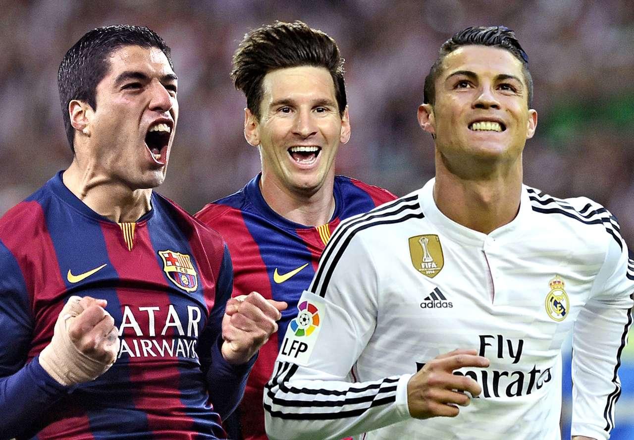 Luis Suarez Lionel Messi Cristiano Ronaldo Suarez Messi Ronaldo