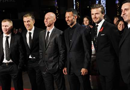 Paul Scholes, Phil Neville, Nicky Butt, Ryan Giggs, David Beckham, Gary Neville 'Class of 1992'