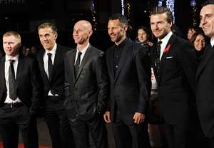 Paul Scholes, Phil Neville, Nicky Butt, Ryan Giggs, David Beckham, Gary Neville 'Class of 1992'