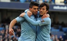 FA Cup - Manchester City vs Leeds, Sergio Aguero & David Silva