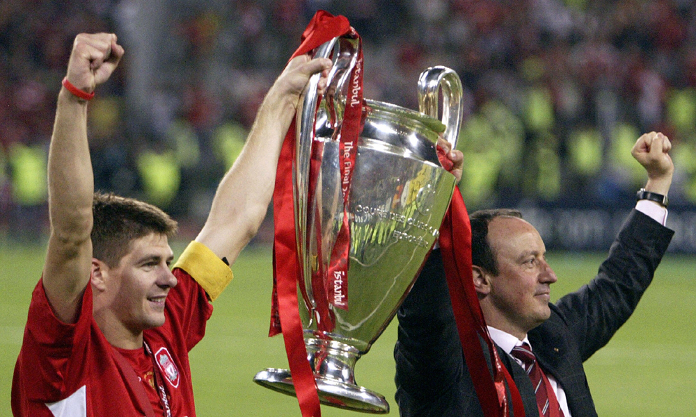 Steven Gerrard Rafael Benitez Liverpool 10022014