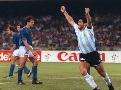 Diego Maradona Argentina Italy World Cup 07031990