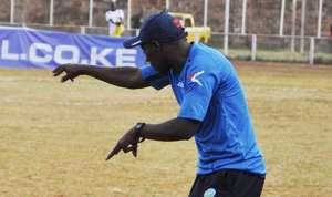 Thika United coach John Kamau in action.