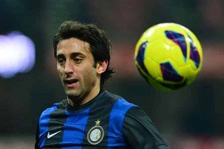 Inter striker Diego Milito