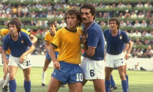 Zico Claudio Gentile Brazil Italy