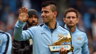 Sergio Aguero Golden Boot Premier League 24052015