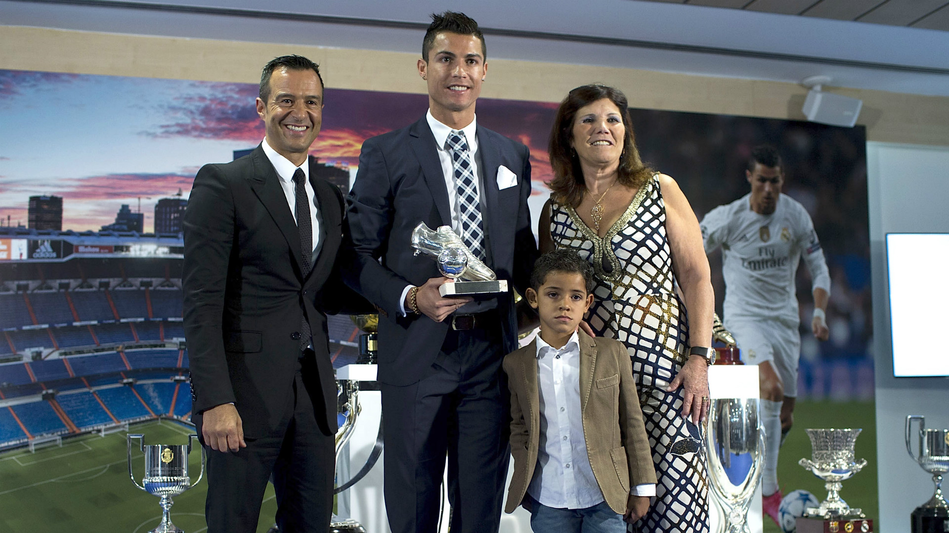 Cristiano Ronaldo Jorge Mendes and family Real Madrid record goal scorer