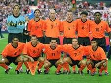 Line up Holland International Friendly 2001 08152001 T10