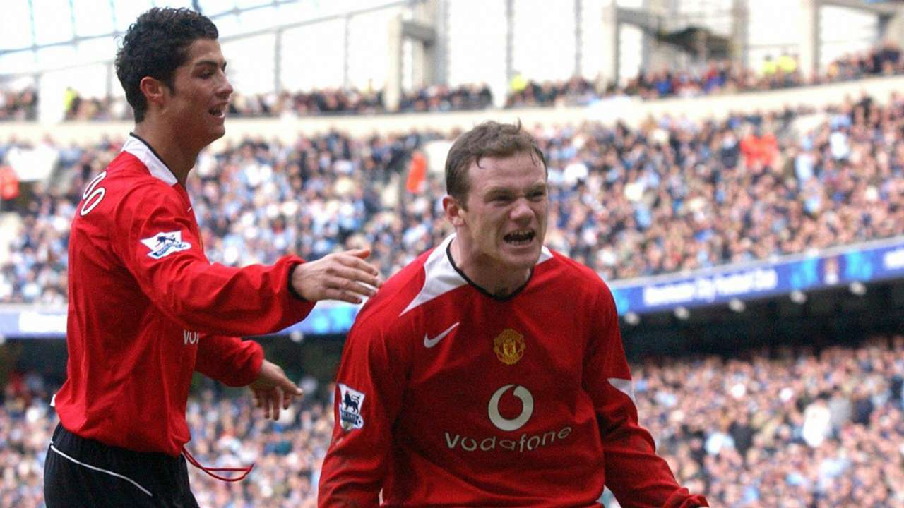 Wayne Rooney Cristiano Ronaldo Manchester City Manchester United Premier League 13022005