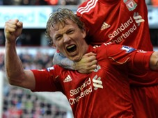 dirk kuyt, liverpool vs manchester united 2011