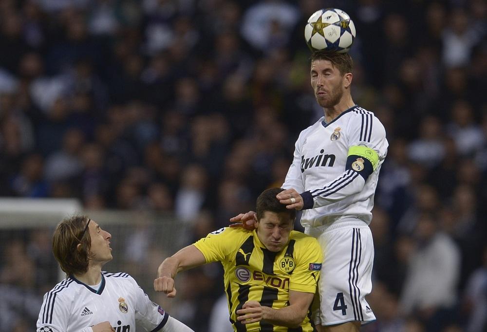 Luka Modric, Robert Lewandowski, Sergio Ramos | Real Madrid v Borussia Dortmund | UCL