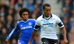 Andre Wisdom Willian Derby County Chelsea FA Cup Third Round 05012014