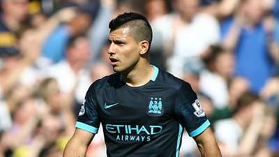 Sergio Aguero Tottenham Manchester City Premier League 26092015