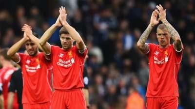 Steven Gerrard Martin Skrtel West Brom Liverpool 25042015
