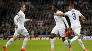 Danny Welbeck Wayne Rooney Kieran Gibbs England Slovenia 15112014