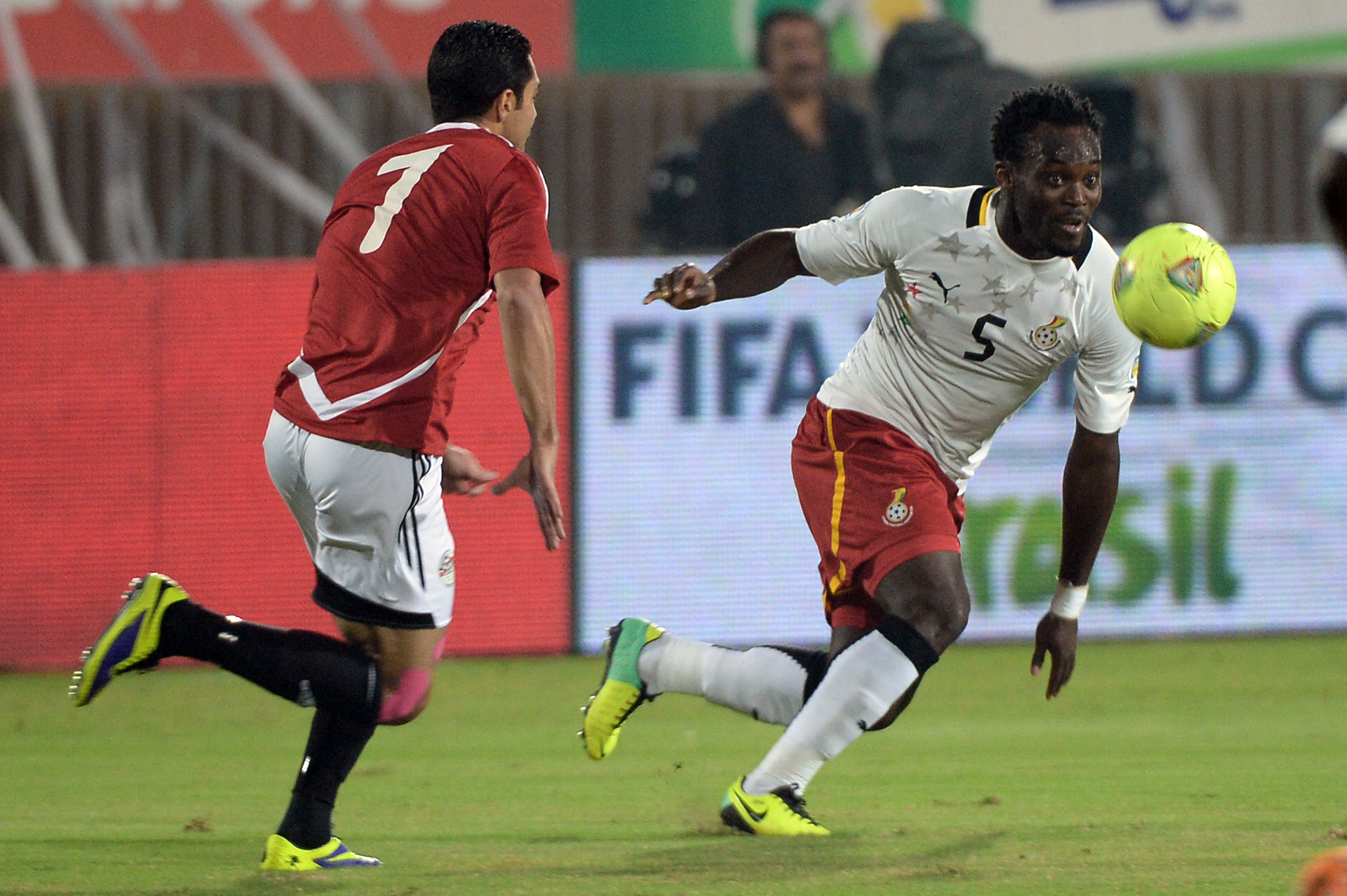 Ahmed Fathy and Michael Essien Ghanas Vs Egypt WC2014 African zone qualifier second leg play-off