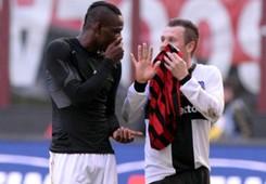 Balotelli Cassano Milan Parma Serie A