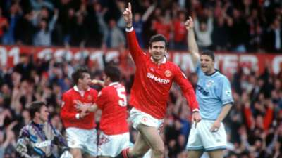 Eric Cantona Manchester United v Manchester City 1994