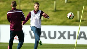 Michael Carrick England training session 24032015