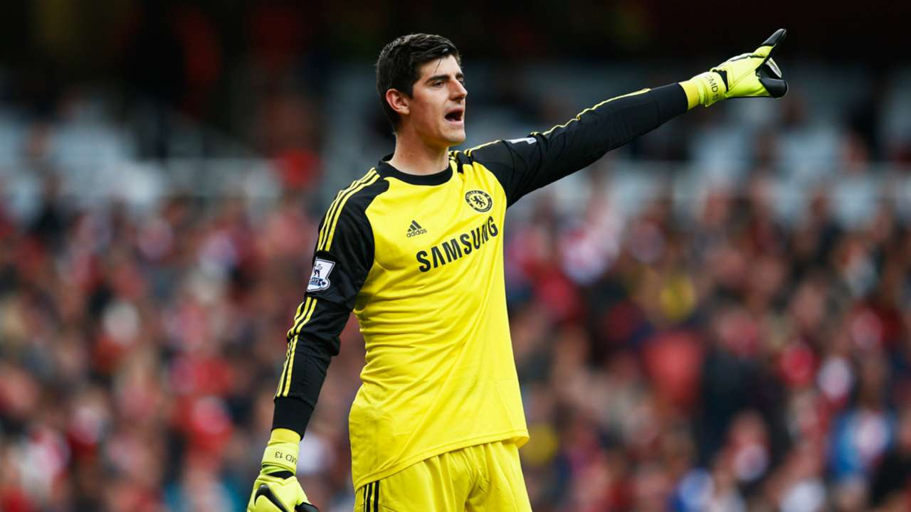 Thibaut Courtois Arsenal Chelsea 26042015