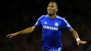 Didier Drogba Premier League Manchester United v Chelsea 261014
