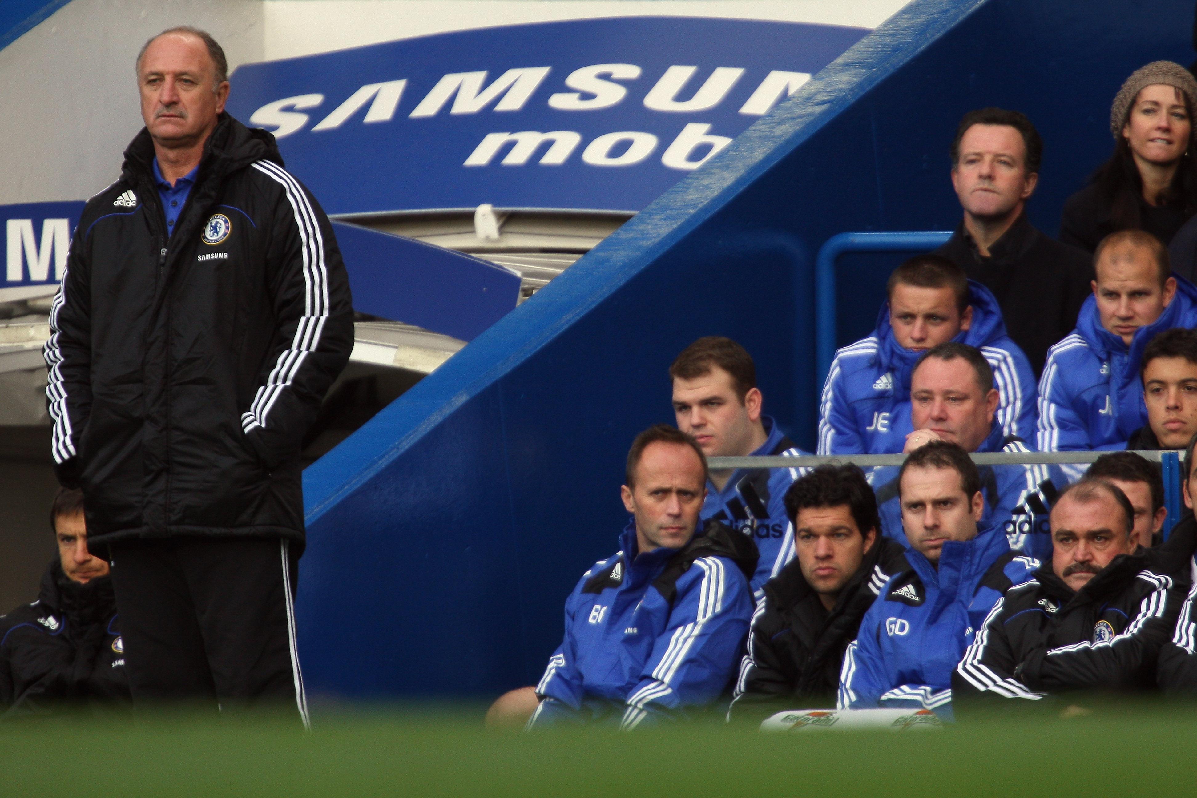 Scolari e Ballack (Chelsea 2008)
