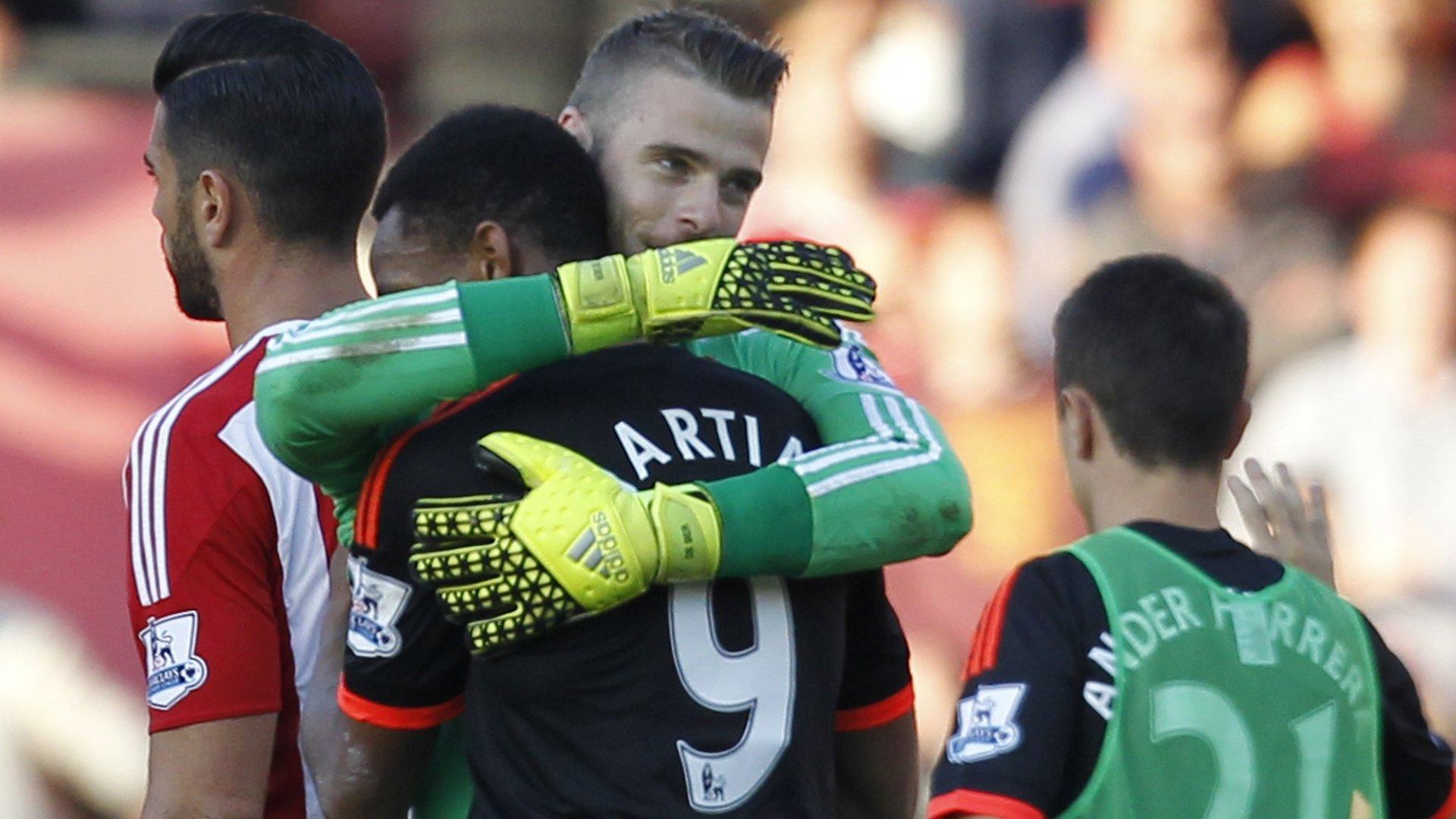 David de Gea Anthony Martial Southampton Manchester United