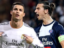 Cristiano Ronaldo Zlatan Ibrahimovic Champions League Player of the Group Stages