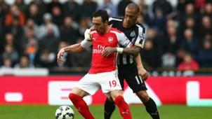 Santi Cazorla Premier League Newcastle v Arsenal 210315