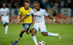 ANDRE AYEW AARON RAMSEY MARSEILLE ARSENAL UCL 09182013