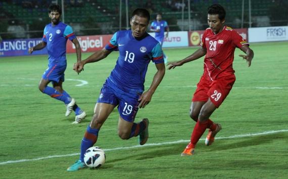 Gouramangi Moirangthem, Pai Soe, Myanmar vs India, AFC Challenge Cup