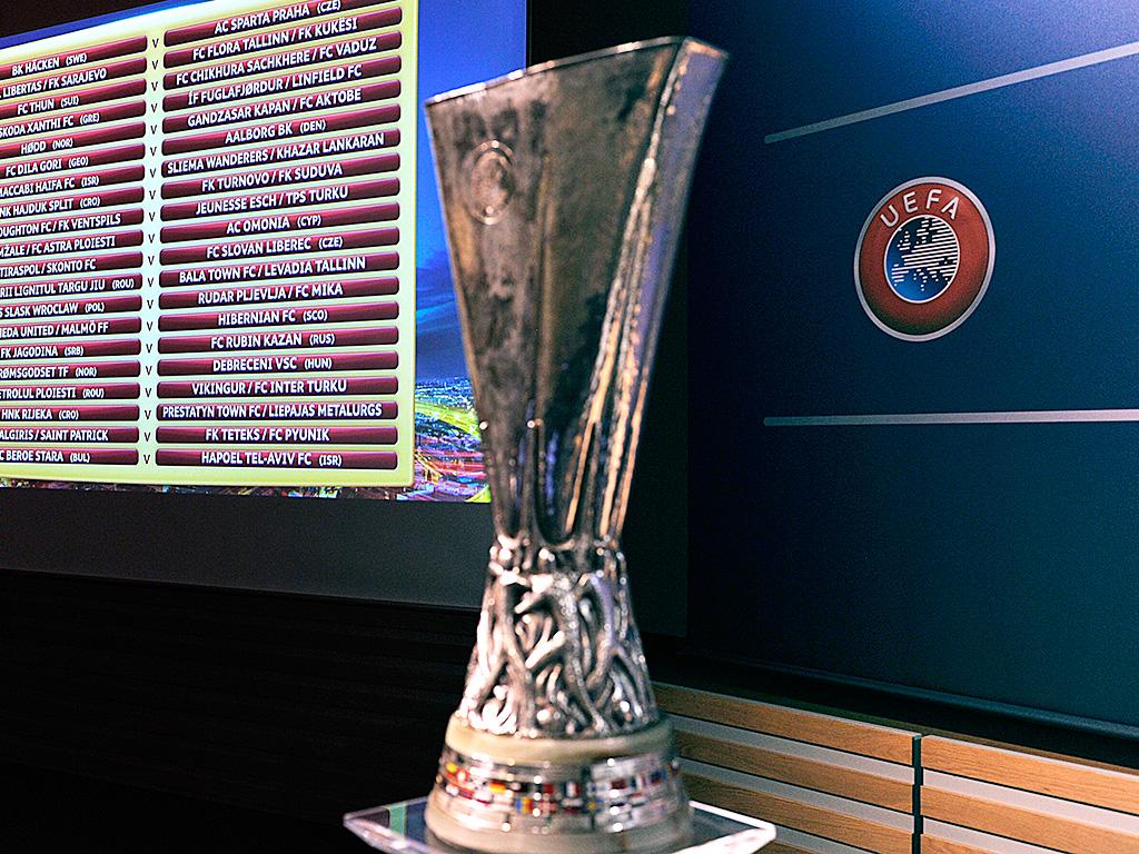 Europa League trophy general draw