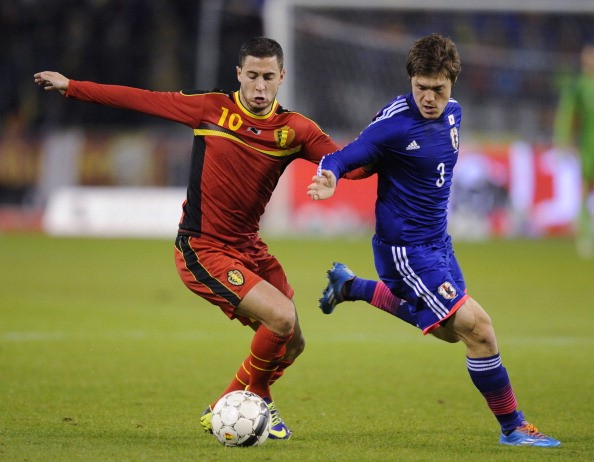 Eden Hazard Saki Gotoku Belgium Japan International Friendly 11192013