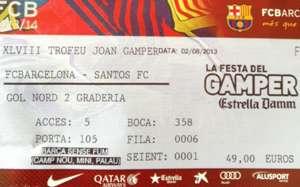 Joan Gamper match ticker - Barcelona vs Santos