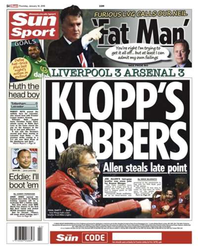The Sun backpage 14012016