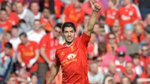 Luis Suarez Premier League Liverpool v Tottenham 2014