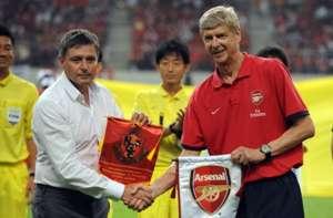 Arsene Wenger and Dragan Stojkovic,Arsenal vs Nagoya Grampus