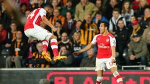 Alexis Sanchez Francis Coquelin Arsenal Hull City Premier League 04052015
