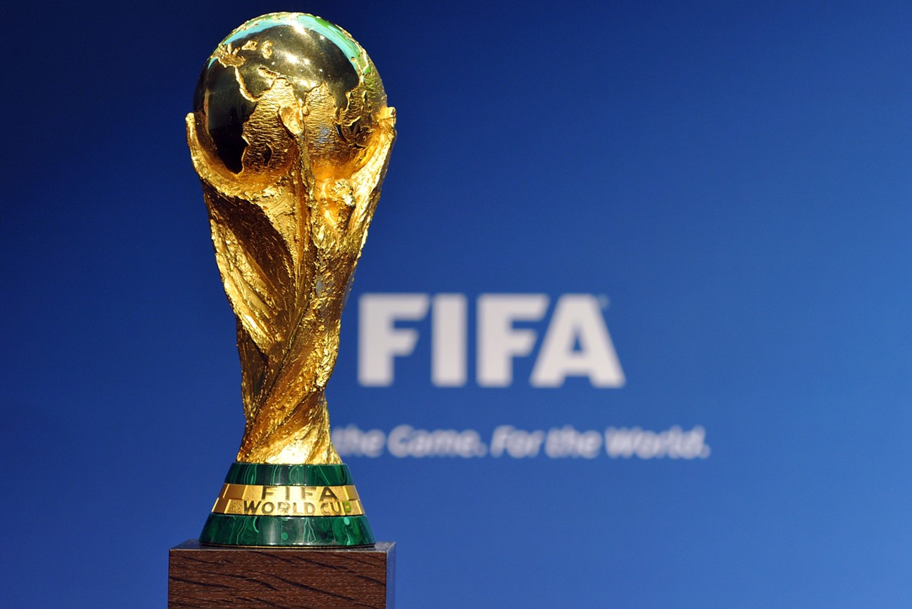The FIFA World Cup trophy