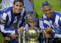 James, Falcao y Guarín - Porto Championship 2009