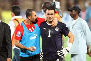 Egypt's Mohammed Shawki Essam al-Hadary after losing the 2010 World Cup qualifying