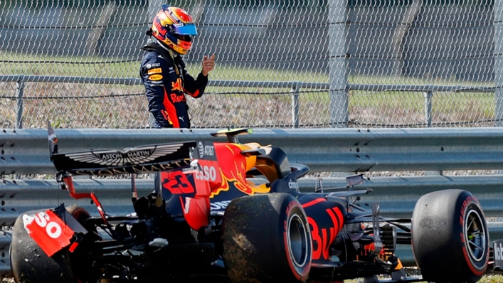 Max Verstappen after crashing out at Silverstone