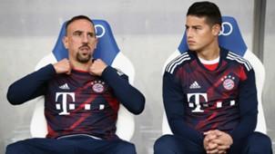 James Rodriguez Franck Ribery TSG 1899 Hoffenheim v FC Bayern Muenchen Bundesliga
