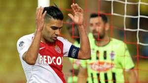 Falcao Monaco v Angers Ligue 1 25092018