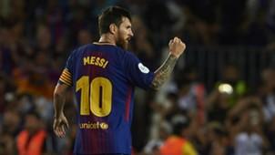 Lionel Messi FC Barcelona v Real Madrid Supercopa de Espana 13082017