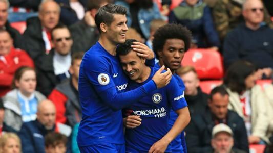 Álvaro Morata Chelsea vs Stoke City Premier League