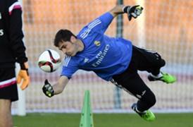 Iker Casillas Real Madrid's training session 19122014