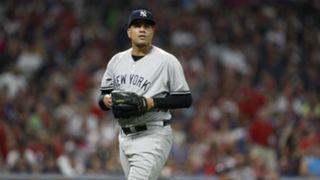 Dellin Betances New York Yankees v Cleveland Indians MLB regular season 14072018