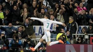 Cristiano Ronaldo Real Madrid v Paris Saint Germain UEFA Champions League 14022018