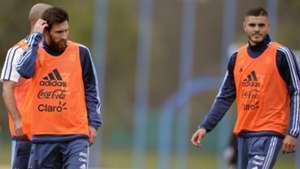 Lionel Messi y Mauro Icardi Argentina trainning 28082017